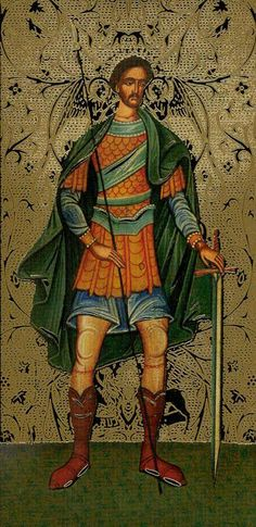Page of Swords - Golden Tarot of the Tsar by Atanas Alexandrov Atanassov