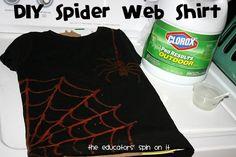 DIY Halloween : DIY Spider Shirt!