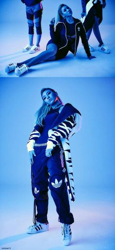 Modeling for Jeremy and Adidas,these shoots are always so cool!  So awesome how close her and Jeremy Scott are :)