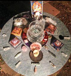 Full Moon in Cancer 2014 orgonite and crystal grid charging hematite, rose quartz, green quartz water! #orgone #orgonite #violetflameorgone #orgonegrid #ojai