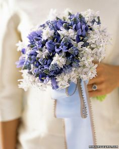 Blue and white. . .