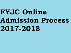 FYJC Online Admission Process 2017-2018 for Mumbai Pune