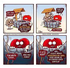 Enquanto isso, em um universo paralelo... 🍮🐴 #universoparalelo #pudim #manga #leite #fakenews #crenças #trocadilho #desenhos #cartoon… Funny Cartoons, Funny Memes, Hilarious, Jokes, Heart Vs Mind, Oh My Love, Funny Love, In My Feelings, Funny Posts
