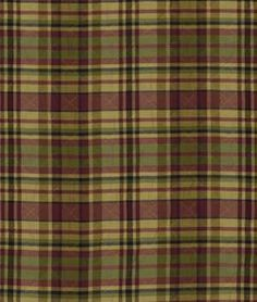 Robert Allen Quilted Plaid Pomegranate Fabric - $82.1 | onlinefabricstore.net