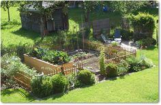gemüsegarten mit hochbeet....von oben.... - Wohnen und Garten Foto