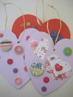 Valentines Craft for Kids: Hanging Button Hearts | Suite101