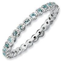 0.39ct Heaven Feel Silver Stackable Aquamarine Ring. Sizes 5-10 Available Jewelry Pot. $82.99. All Genuine Diamonds, Gemstones, Materials, and Precious Metals. Fabulous Promotions and Discounts!. 30 Day Money Back Guarantee. 100% Satisfaction Guarantee. Questions? Call 866-923-4446. Your item will be shipped the same or next weekday!