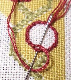 Just String: Spiral Trellis stitch
