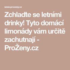 Zchlaďte se letními drinky! Tyto domácí limonády vám určitě zachutnají - ProŽeny.cz
