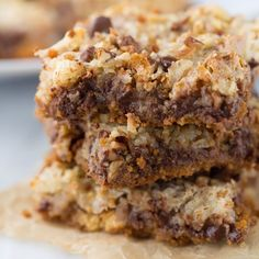 An ooey-gooey decadent treat with a sweet and salty twist. So easy to make! An ooey-gooey decadent treat with a sweet and salty twist. So easy to make! Gluten Free Sweets, Gluten Free Cookies, Gluten Free Baking, Dairy Free Recipes, Celiac Recipes, Gluten Free Bars, Keto Cookies, Gf Recipes, Party Recipes