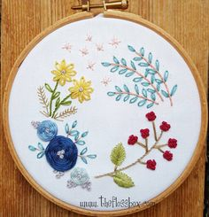 Floral embroidery from earlier this year. 🌼🌻🌺🌸💐 #needlework #stitching #embroidered #hoopart #florals #wovenwheels #embroidery
