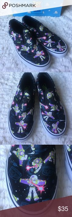 Vans Toy Story Buzz Lightyear Classic Slip On NEW Boys VANS Toy Story Buzz Lightyears Space Print. Vans Shoes Sneakers