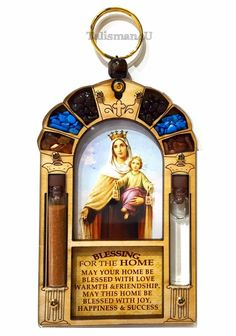Blessed Virgin Mary Queen Of Heaven Catholic Home Blessing Religious Wall Decor