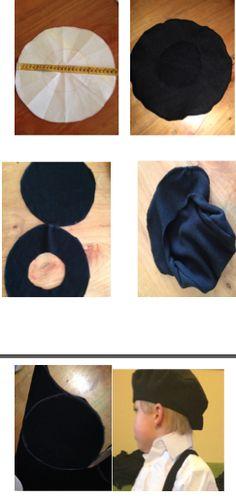Tutorial simple para boina de polar, niños, disfraces.