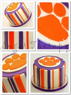 Clemson cake by Sugar Therapy