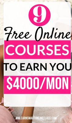 Get these most popular work-at-home courses to upgrade your work from home caree.Get these most popular work-at-home courses to upgrade your work from home career. These free online courses can help you to become an expert in any f. Earn Money From Home, Earn Money Online, Make Money Blogging, Way To Make Money, Money Fast, Earning Money, Online Earning, Quick Money, Online Income