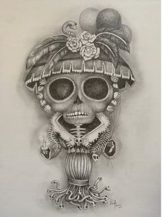 Childhood, Skull, Tattoos, Painting, Art, La Catrina, Art Background, Infancy, Tatuajes