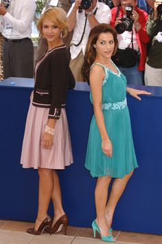 Brittany Murphy and Jessica Alba, Cannes 2005. Need both of these outfits and shoes!!