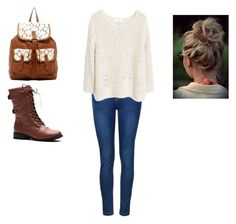 """""""Fall sweater day 1"""" by maybeckc ❤ liked on Polyvore featuring Ally Fashion, T-shirt & Jeans and MANGO"""