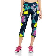 Sauci Juniors Seamless Space Dye Capri Pants - Walmart.com
