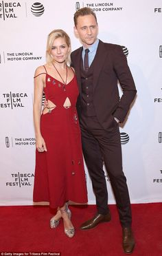 Sienna Miller and her co-star Tom Hiddleston - Premiere of 'High-Rise' in New York City. (20 April 2016)