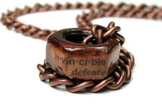 Antiqued Copper Industrial Chic Hex Nut Necklace, Invincible, Metal, For Dads, For Men, Gifts For Dudes, Rocker, Steampunk, Mens Necklace on Etsy, $36.50