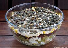Wiosenna sałatka z brokułem i jajkiem - Obżarciuch Tortellini, Bon Appetit, Oatmeal, Salads, Menu, Pudding, Snacks, Cooking, Breakfast