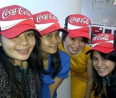 working moment with colleagues, Corporate Affairs of Coca Cola Amatil Jakarta 2013... miss you girls..❤️