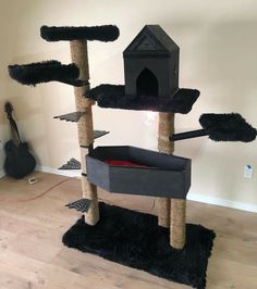 Casa Halloween, Halloween Home Decor, Gothic Furniture, Cat Furniture, Home Sweet Hell, Cat Tree House, Goth Home Decor, Cat Accessories, Gothic House