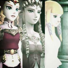 OoT, TP, and SS Zeldas.