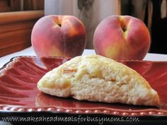make ahead peach scones  I might substitute some of those blueberries I have in the deep freezer.