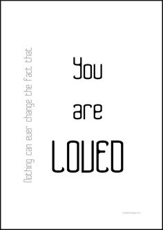 YOU ARE LOVED - makehappy.no Love You, Facts, Math Equations, Je T'aime, I Love You, Truths