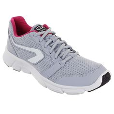 Check out our New Product  Ekiden one plus women running shoes in grey pink Accessories Made for road running up to 45 minutes, once a week.Comfortable and light for the beginner runner at the best price. With rubber reinforcements on the sole at the front and rear to avoid chafing.  ₹1,649