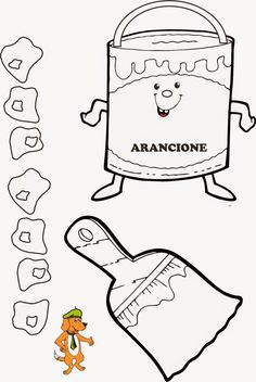 Alla scoperta dei colori. Drawing School, Arts And Crafts, Diy Crafts, Decoration, Coloring Pages, Activities For Kids, Snoopy, Coding, Drawings