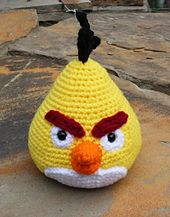 Ravelry: Chuck the Angry Bird pattern by Nichole's Nerdy Knots