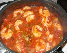 This not just shrimp and tomato sauce, but a medley of creole flavors.  NOTE:  I would only add 2 T. of flour to make the roux.