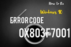 The cause for error code 0x803f7001 varies. Usually, it occurs for two reasons: 1) when during the process of upgrading to Windows 10, no valid Windows license or product key is found for your device or 2) when a user performs a clean installation of Windows 10. During a clean installation, a new license is usually required to allow you to activate your copy of Windows.