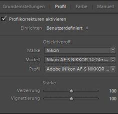 Lightroom-Quickie: Objektiv-Profile nur für RAW-Fotos?