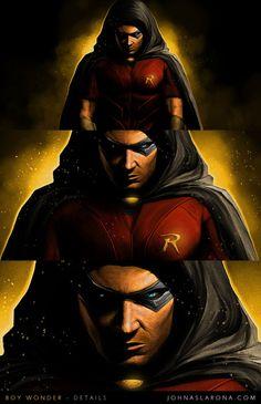 "dcdatabase: "" Robin in Batman: Arkham City. Comic Book Characters, Marvel Characters, Comic Character, Comic Books Art, Comic Art, Im Batman, Batman Arkham, Batman Robin, Tim Drake Red Robin"