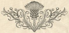 Thistle Crest | Urban Threads: Unique and Awesome Embroidery Designs