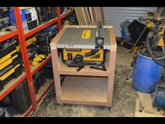 Mobile Table Saw Station Build - with plans - YouTube