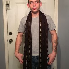Mens scarf from Belk Brown w/multi colors. 80%Acrylic & 20%Wool Accessories Scarves & Wraps