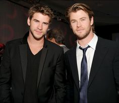 Liam & Chris Hemsworth - dear lawd, what do their parents have to look like to create them?!