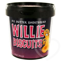 Silly Willy Shortbread Biscuits (12 Pack) at Lovehoney - Free Delivery on Body Paint & Rude Food