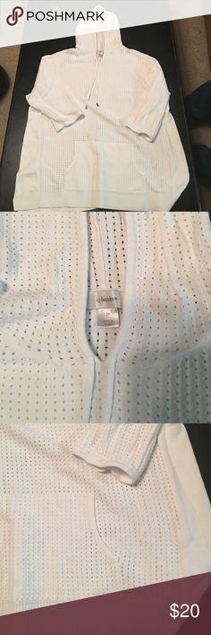 2X CJ Banks mesh hoodie GUC - small amount of pilling on sides not noticeable. 3/4 sleeve lightweight CJ Banks  Tops Sweatshirts & Hoodies