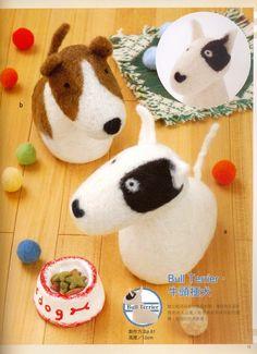 F18 The Cute Felty Dog : Needle Felt Wool. $3.00, via Etsy.