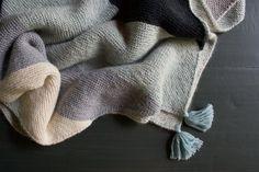Rectangular Colorblock Bias Blanket   Purl Soho - Create