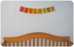 How to make this beautiful banner. This would make a beautiful happy birthday banner. Felt Name Banner, Name Banners, Felt Crafts, Crafts To Make, Diy For Kids, Crafts For Kids, Waldorf Crafts, Rainy Day Crafts, Cool Diy Projects