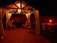 Rope Lights Lowes Adorable Beautiful Chandelier Under A Gazebo You Can Find It At Lowes Decorating Inspiration