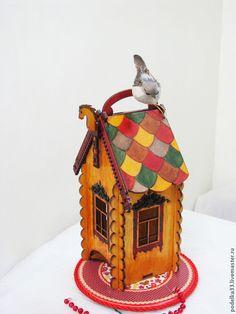 "Cámara bolsitas de té  -    Kitchen handmade. Livemaster - handmade. Buy Tea bags holder, tea house box, tea bag storage  ""Teremok""."